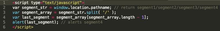 Get Last Segment of URL in JavaScript