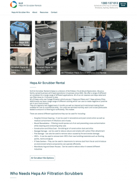 Hepa Air Scrubber Hire - Craft CMS