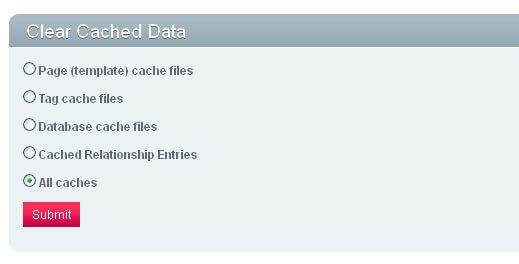 Clear Cached data